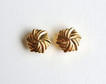 Vintage Avon Button Covers, Gold Button Covers, Gold Swirl Button Tops Toppers, Signed Avon Jewelry, Womens Accessory, Unworn New NOS