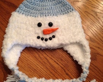 Snowman Hat - light blue