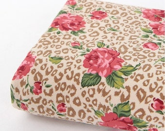 Rib Knit Fabric Leopard Rose Beige By The Yard