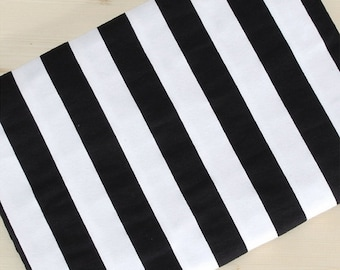 Cotton Jersey Knit Fabric Black Stripe