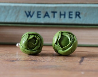 By the Shed Brussels Sprout Green Cufflinks - Christmas - Festive - Gardening - Vegetable Vegetarian - Christmas Lunch Brussel