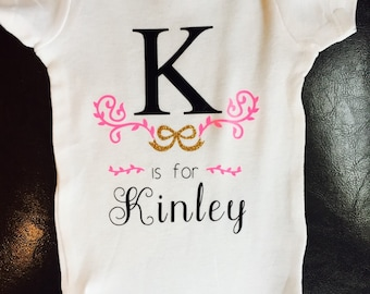 Baby Girl Name Onesie