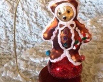 Christopher Radko ornament gingerbread bear
