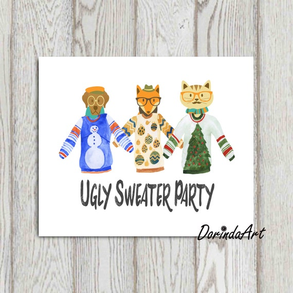 Ugly sweater sign