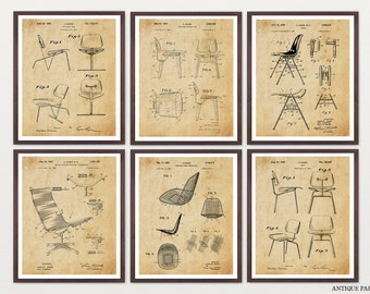 Eames Poster - Eames Chair - Eames Patent - Charles Ray Eames Art - Eames Decor - Mid Century - Eames Chair Patent - Charles Eames - Chair