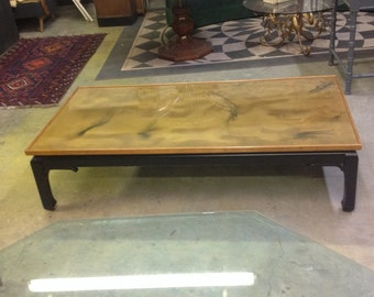 Chinoiserie Gold Swirl Coffee Table