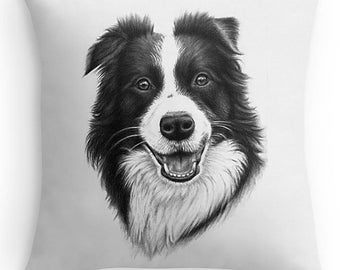 BORDER COLLIE Pillow 40 x 40 cm - with filling