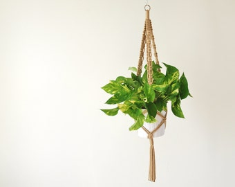 unique macrame plant hanger with pot related items etsy