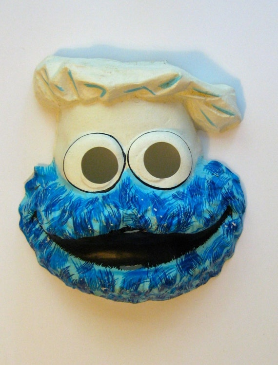 Vintage Halloween Mask Cookie Monster