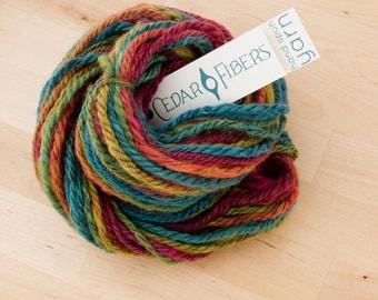 Hand-spun Yarn Rainbow Aran Weight