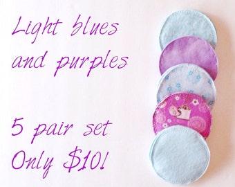Cloth nursing pads, reusable nursing pads, breast-feeding, maternity, eco-friendly, flannel