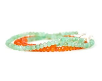 Chrysoprase Bracelet, Delicate Chrysoprase Bracelet, Handmade Gemstone Jewelry, Gemstone Bracelet, Handmade Jewelry, Gemstone Jewelry