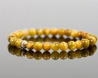 Tigers Eye Bracelet, Yellow Natural Gemstone Bracelet, Handmade Gemstone Jewelry, Gemstone Bracelet, Handmade Jewelry, Gemstone Jewelry