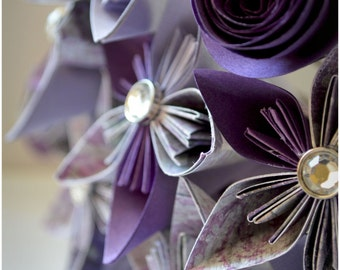 Paper Flower Bridal Table Flowers
