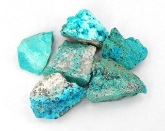 Crysocolla Stone - Wire Wrapping - Jewelry Supply - Raw Stones - Metaphysical  (RK47B1)