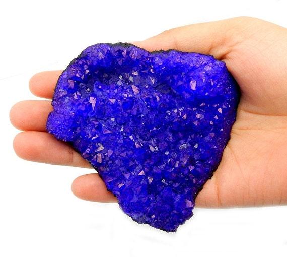 Large Calcite Druzy Beautiful Purple Colored Stone RK54B1