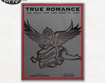 TRUE ROMANCE Movie Poster, Fine Art Print