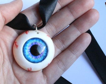 Necklace human eye.