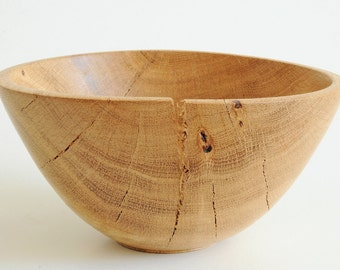 Oak wooden bowl,handmade,woodturning