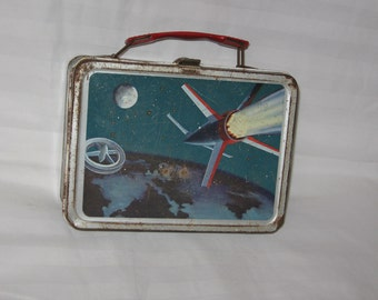 vintage 1960s american thermos co. space exploration metal lunchbox