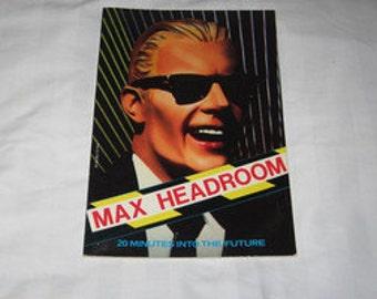 vintage 1986 max headroom 20 minutes into the future book