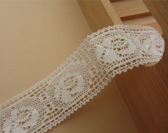 Fine Cotton Thread Crochet Lace-LSC006-2.8cm cotton rose ribbon
