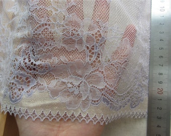 "purple lace edges, Wide Stretch Lace Trim. 9"", 1 Yard/5yards"