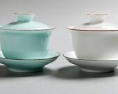 4 celadon porcelain handmade gaiwan(tea bowl), Di Kiln gaiwan,Chinese Antique Ceramics (porcelains), Famous Porcelain Kilns .