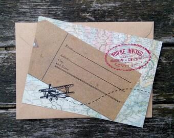 reise einladung | etsy, Einladung