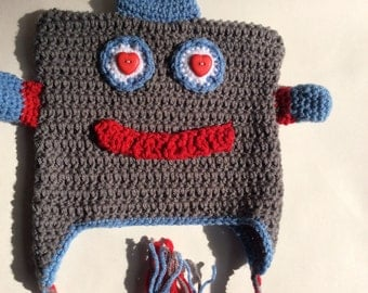 Crochet Lovebot Robot Hat