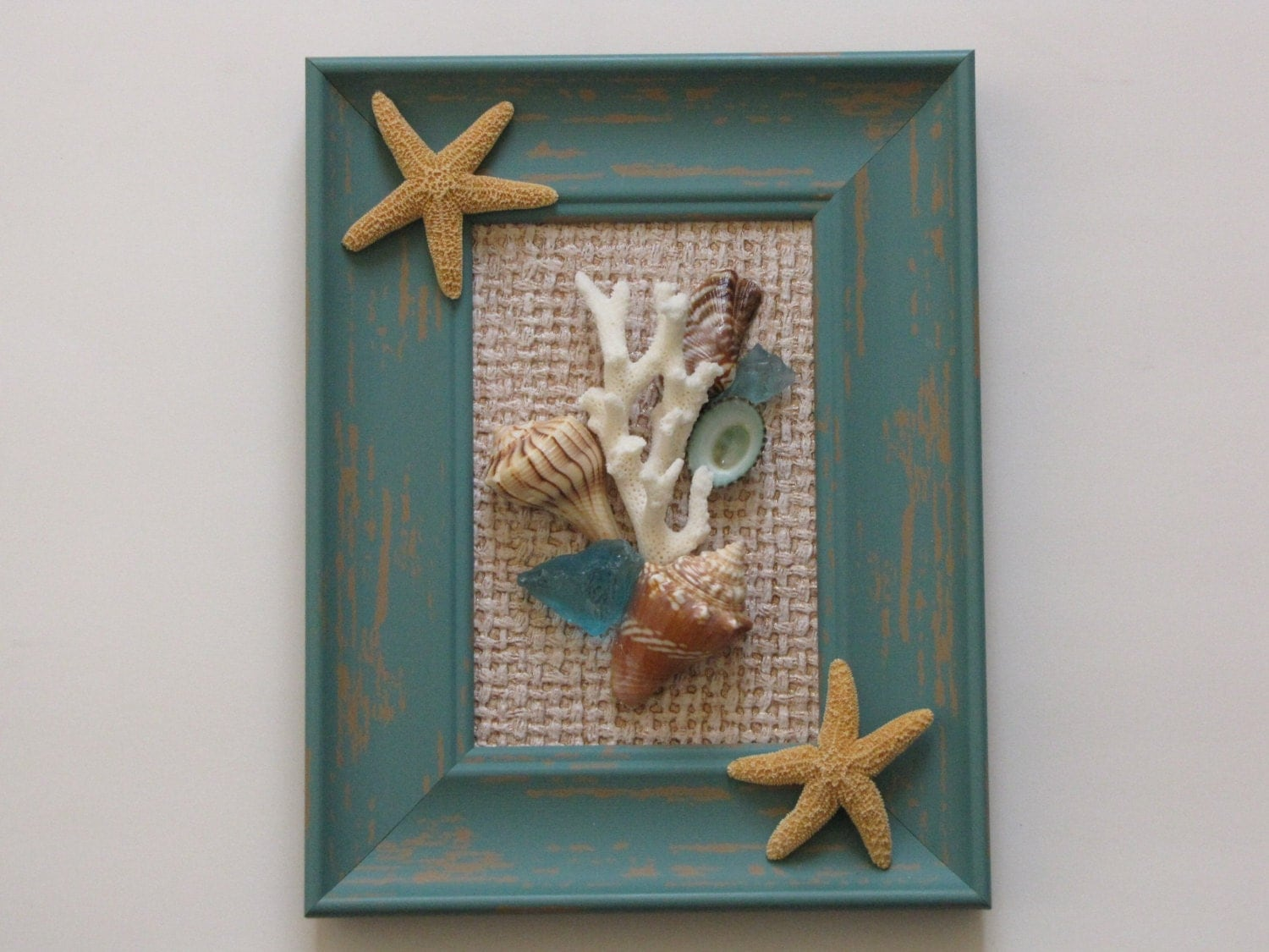 Coastal Wall Decor: Seashell Wall Decor Framed Seashell Wall Art Beach Decor