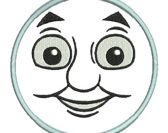 Machine embroidery Design Thomas face applique 4x4, 5x7 and 6x10