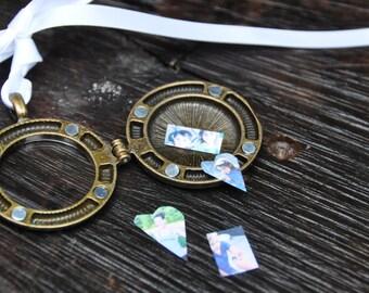 Photo locket necklace picture locket pendant sterling silver locket vintage locket personalized locket round locket antique locket