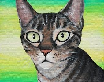 "4"" x 4"" Vibrant Custom Pet Portrait | Hand-Painted on Canvas"