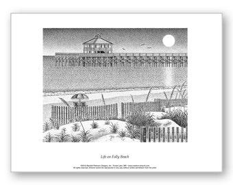 Life on Folly Beach - Limited Edition Print