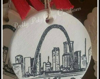 Clay Gift Tag -  St. Louis , MO ~ Arch
