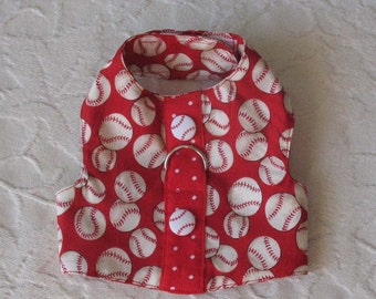 XS Red Baseball Harness Vest