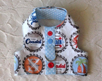 Sm Beach Themed Harness vest