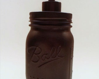 Oil Rubbed Bronze Mason Jar Soap Dispenser