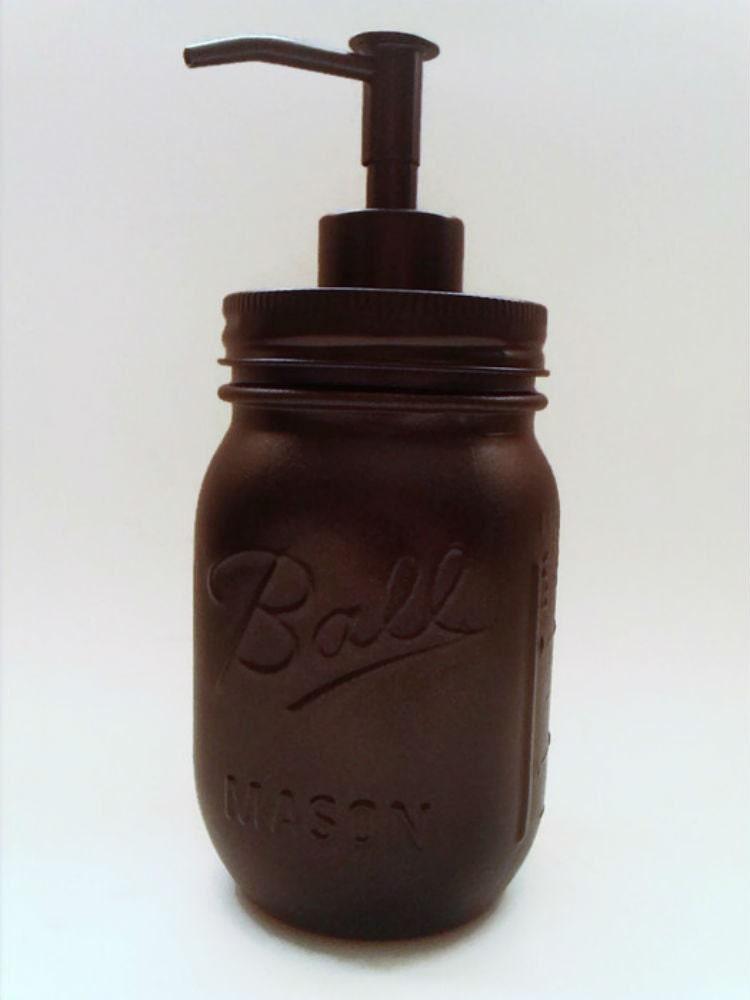 Oil Rubbed Bronze Mason Jar Soap Dispenser