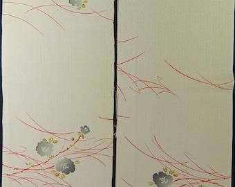 Vintage kimono silk fabric-Sea Mist 1653K