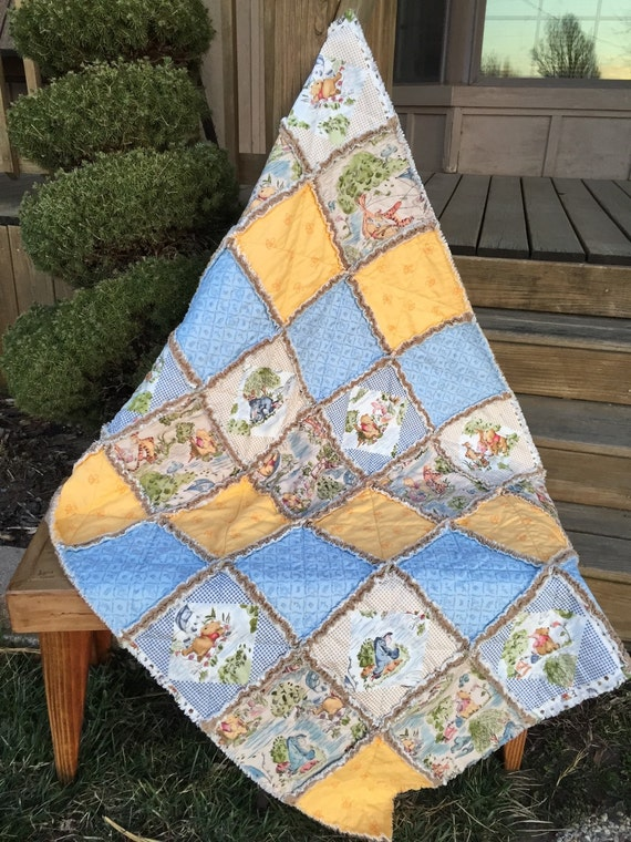 Baby Rag Quilt In Winnie The Pooh And Friends Design The