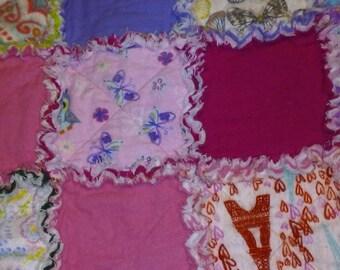 Girl rag quilt.