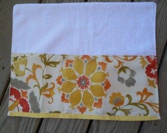 Guest Towel Cottage Chic Yellow Floral Decorative Hand Towel Guest Bath Decor