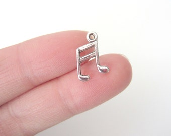 Antique SIlver Musical note Charms Pendants 14mm(No. 600)