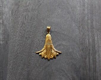 Gold Lotus Pendant (Large)