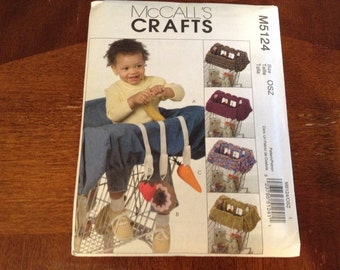 McCall's  shopping cart cover pattern infant girl or boy    New  uncut