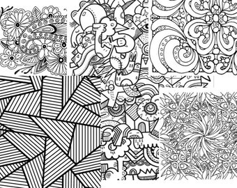 Relaxation and stress free coloring for adults instant download