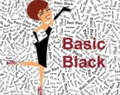 "Basic Black Palette Custom Name Fabric Material for Applique, ITH, & Craft Projects. Full 18""x12"" or Half 12""x8"""