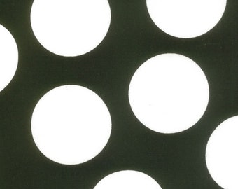 Half Moon Modern Big Dots in Black and White